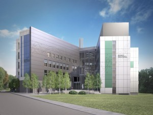 An artist's impression of  Birmingham's new dental hospital. Credit: Calthorpe Estates