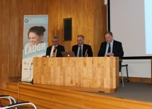 From left to right: Jean-Luc Eisele (executive director of FDI World Dental Federation), Professor David Williams (professor of global oral health) and Peter Ward (chief executive of the BDA)