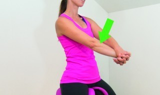 Figure 4: The muscles in the forearm get tensed when you grip the instruments tightly (rotate your forearm inside as far as possible. Face the palm towards you and make it stretch more by carefully pulling the palm towards you with the other hand)