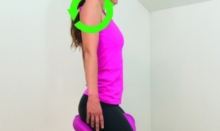 Figure 8: Rotate your shoulders, relaxing and increasing circulation