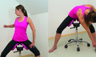 Figure 9: Activation of the upper back muscles, which tend to get weak and tight when working in front of the body
