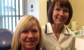 Jenny Ellis (receptionist left) and Sian Roberts (nurse right)