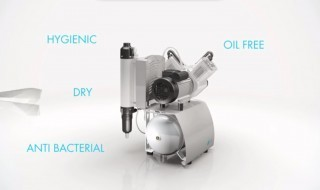 Oil-free compressors suitable for dentistry