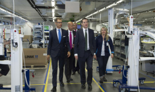 A tour of Planmeca's X-ray production facilities where guests learnt about the intricacies of Planmeca's high tech assembly line