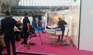 Delegates watch a live demonstration of a non-surgical aesthetic procedure at CCR Expo 2015