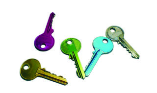 colourful keys