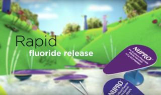 Fluoride varnish that delivers rapid fluoride release