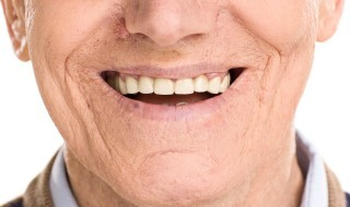 Man with dentures