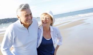 Walking-on-beach-old-people