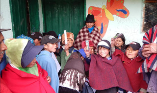 The children in Ecuador are very happy with their new toothbrushes