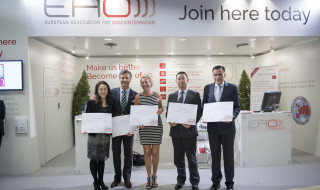 The certificate winners