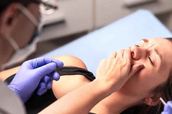 Dental patient swallowed dental instrument