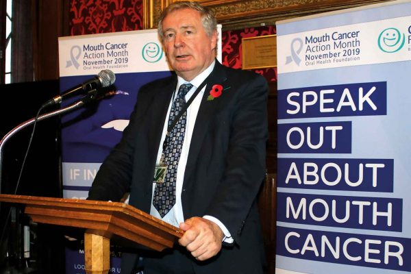sir paul beresford speaks out at mouth cancer action month launch