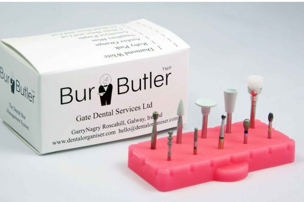 The burbutler helps organise burs for chairside ease