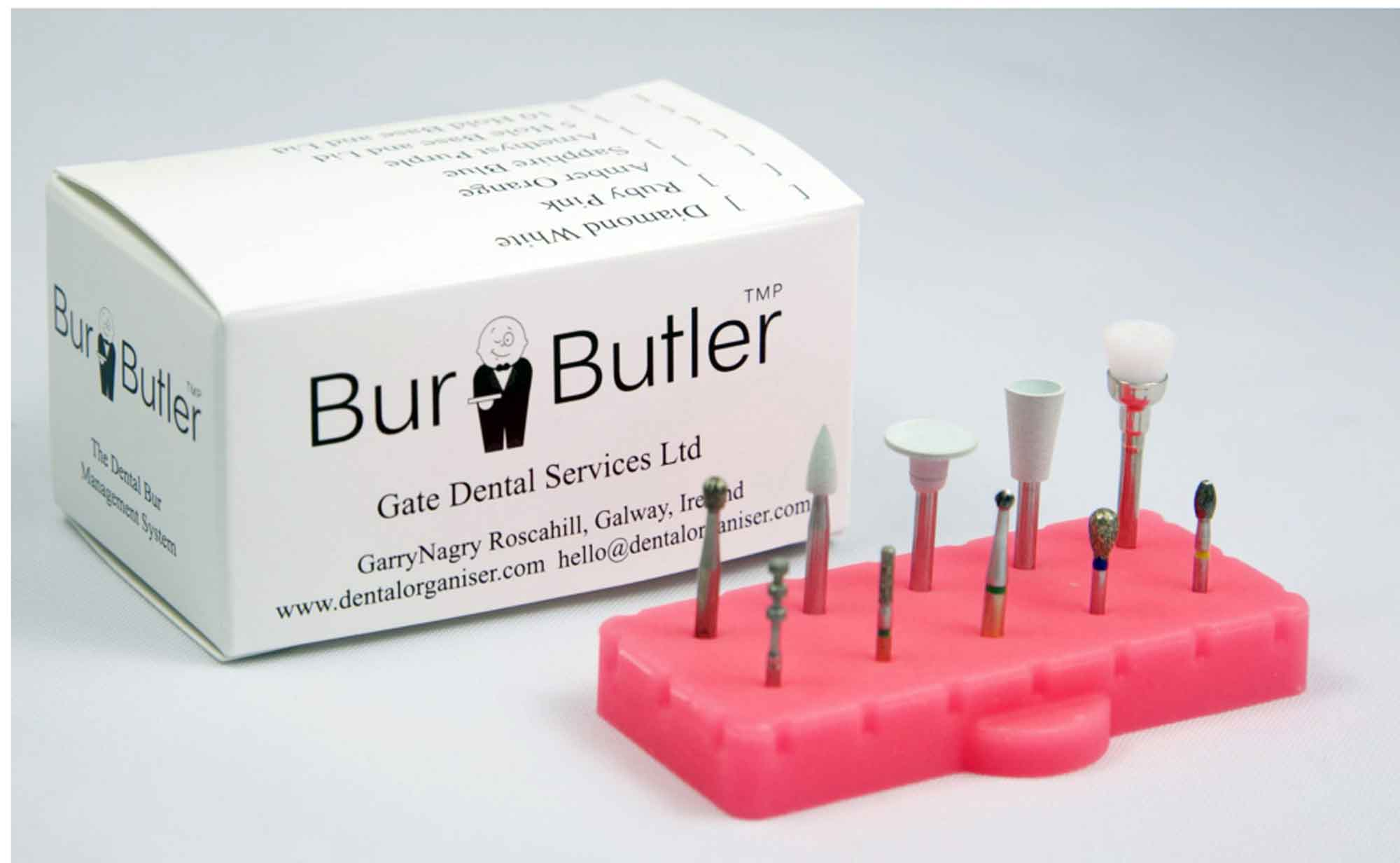 The Burbutler aids bur management from chairside by keeping all of your burs in one place