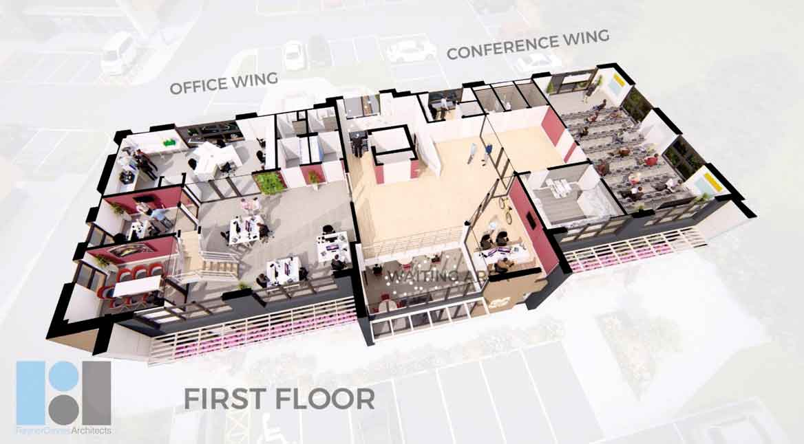 First floor floor plan The Campbell Clinic and Campbell Academy