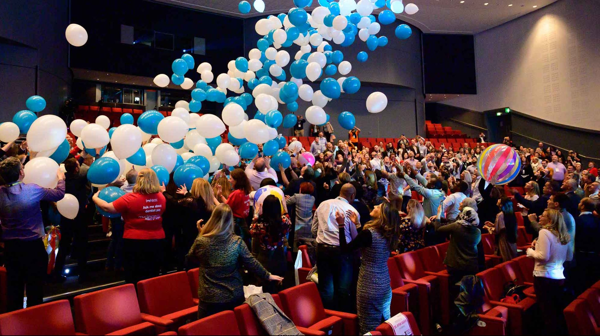 Mydentist Clinical Conference balloon drop