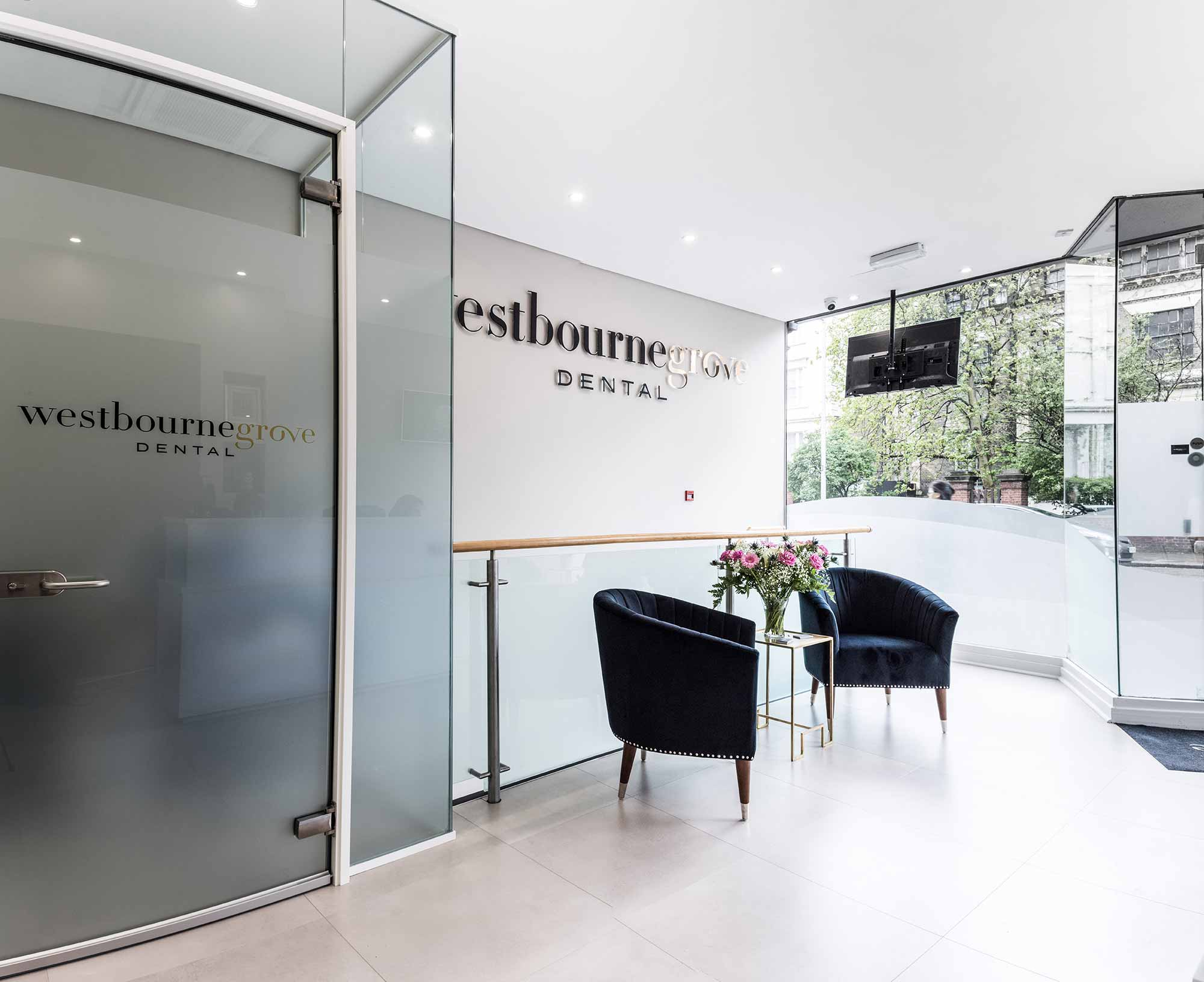 seating area at Westbourne Grove Dental