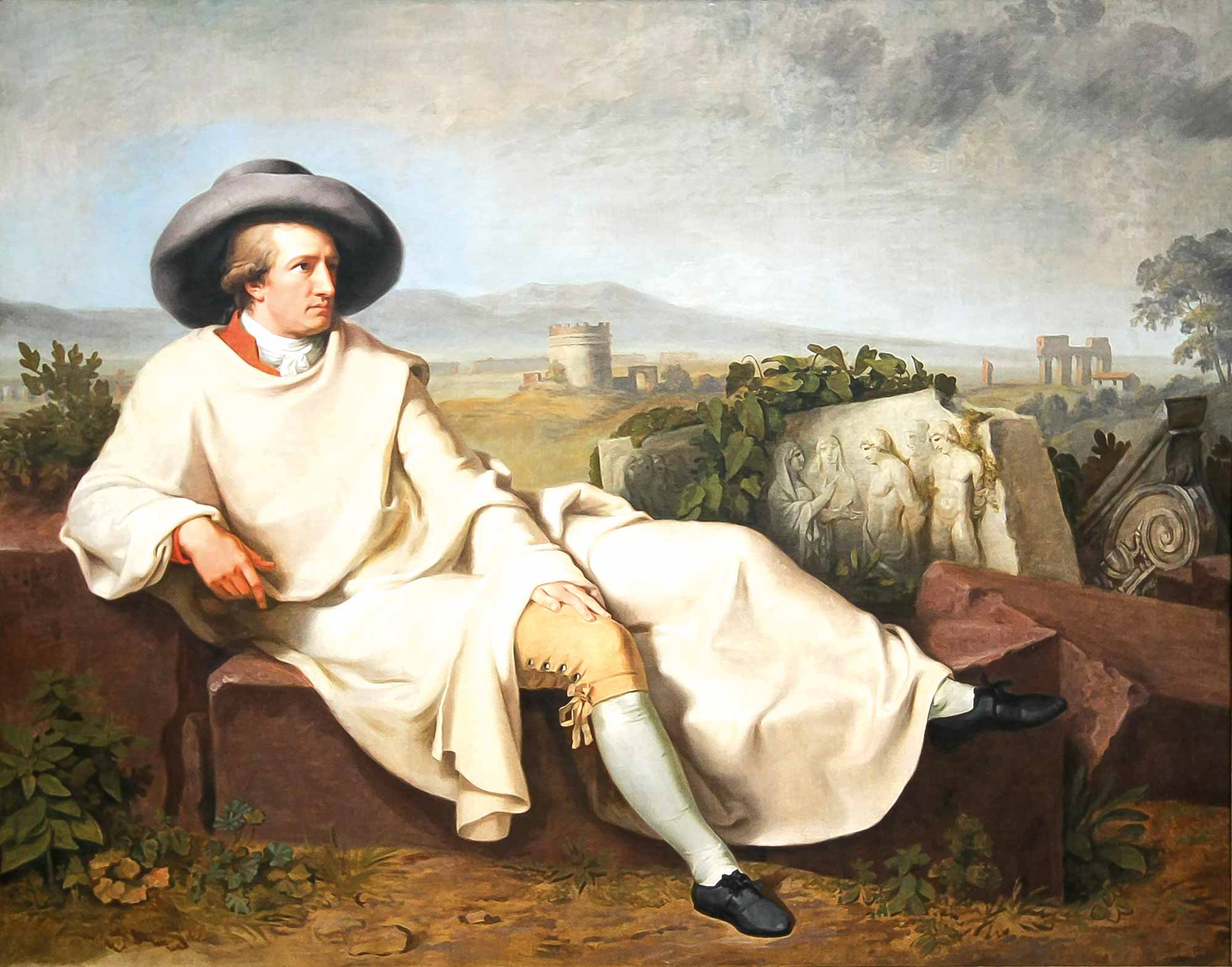 Johann Wolfgang van Goethe portraita founder of morphology which helped develop this tool for dental prosthetics