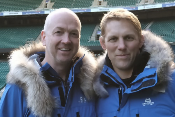 Neil Counihan (left) with Lewis Moody
