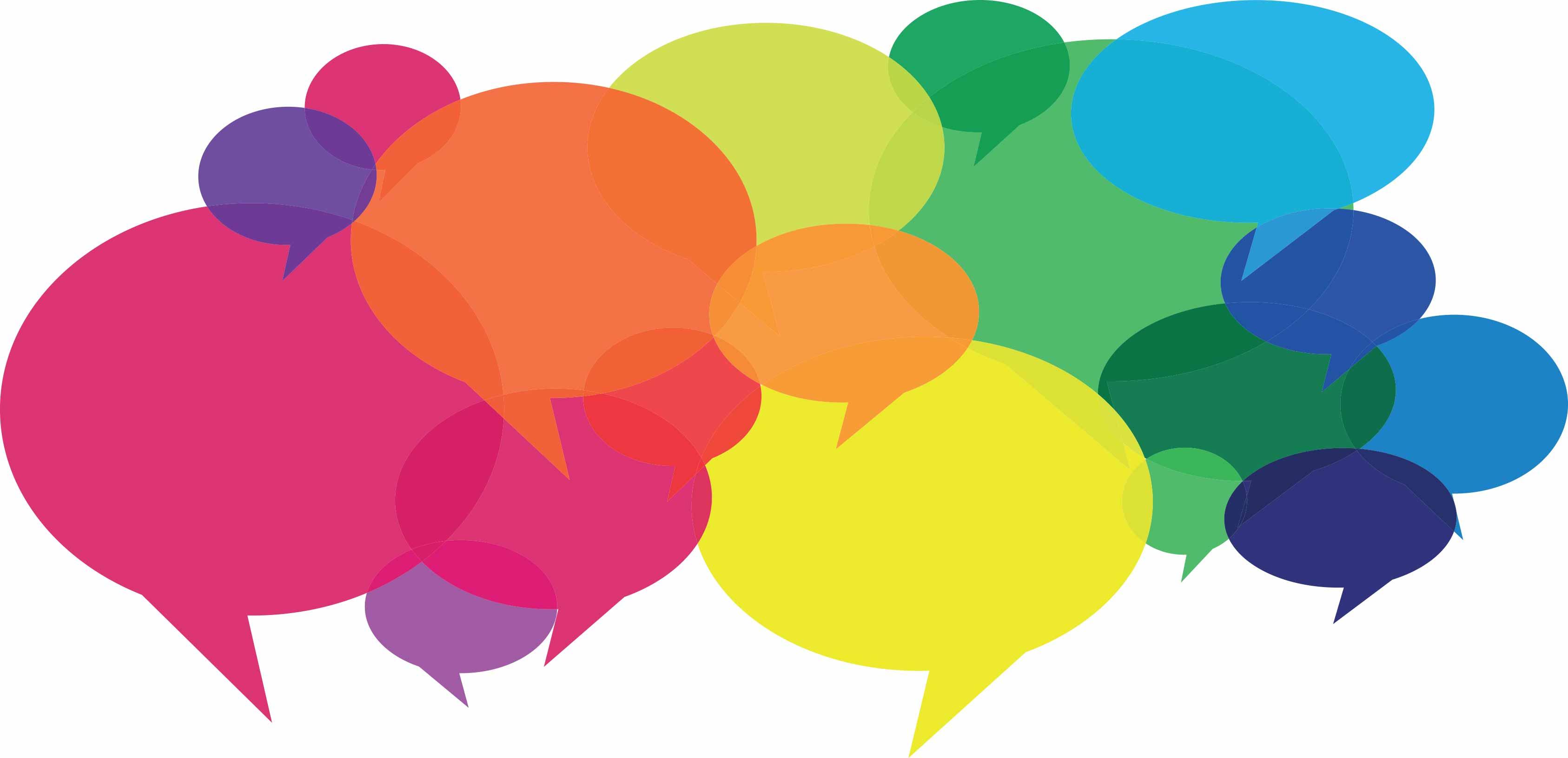 positive patient engagement, speech bubbles