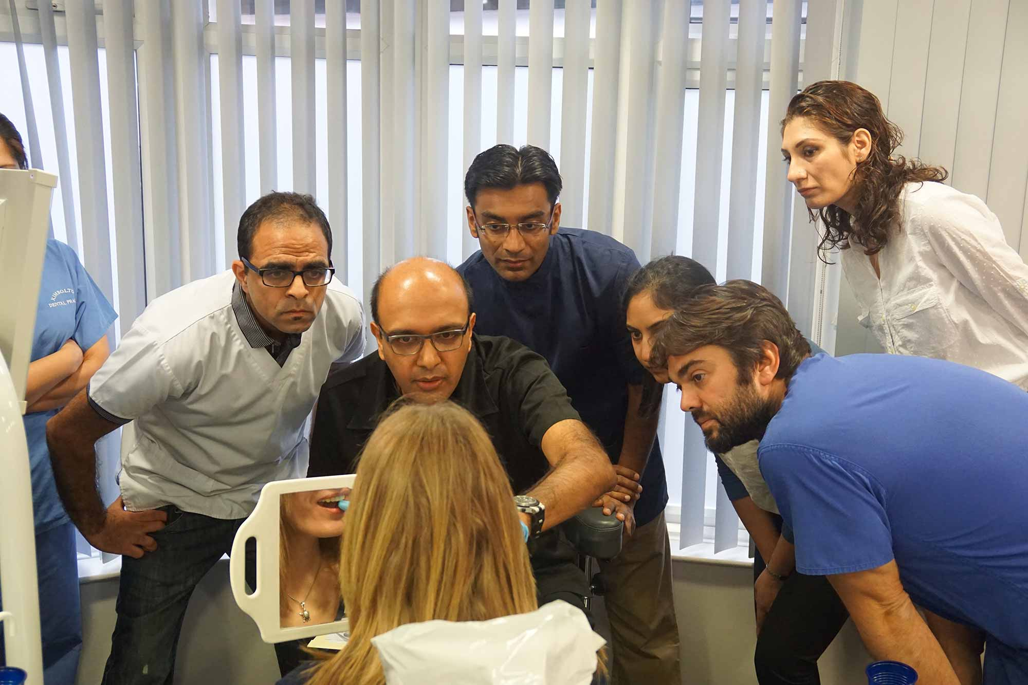 Ash Parmar training young dentists for private dentistry