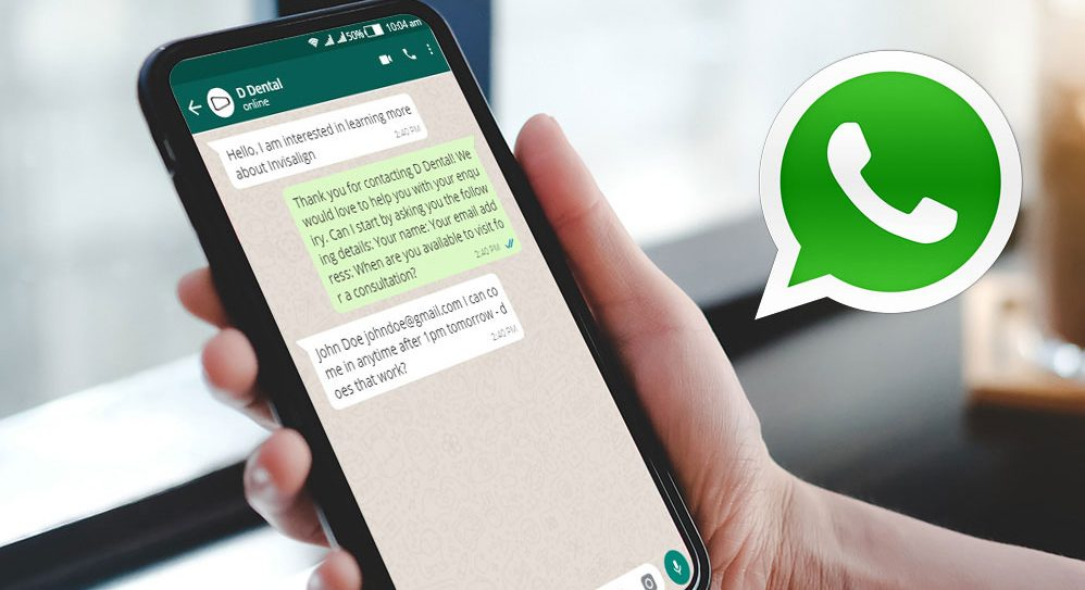 using Whatsapp for a dental practice