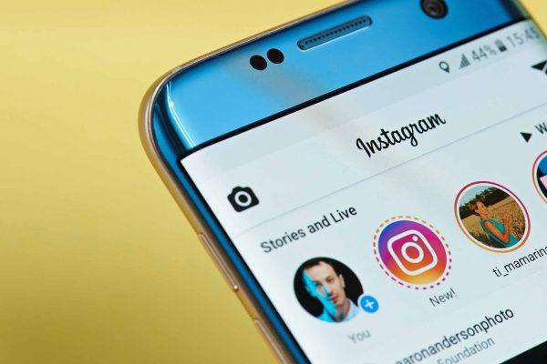 instagram on phone