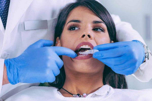 patient receiving Invisalign treatment