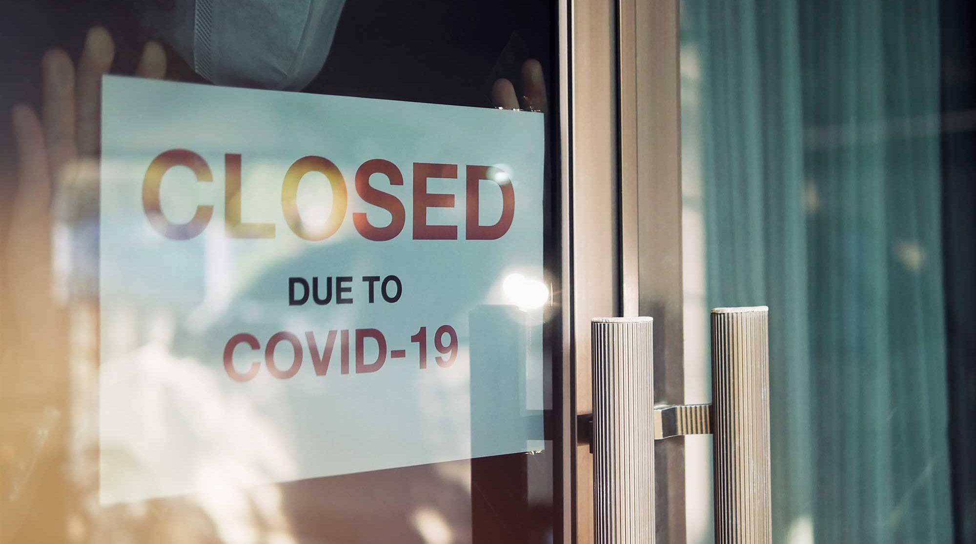 COVID-19 closed sign