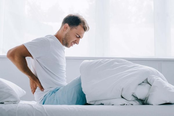Man with musculoskeletal back pain