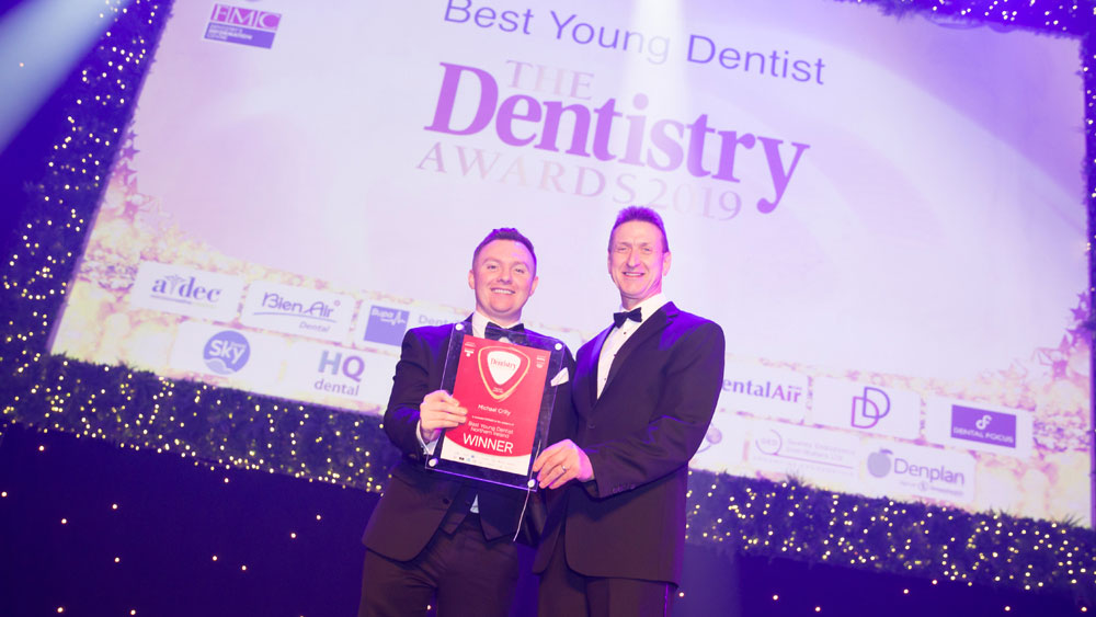 Michael Crilly at the Dentistry Awards