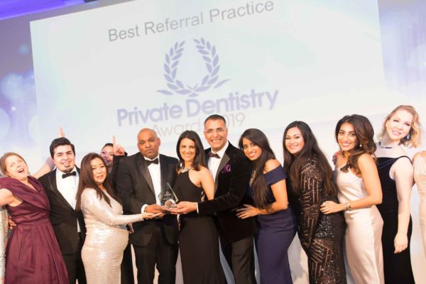 Multiple award winners Angela Auluck and Dev Patel, of The Dental Rooms