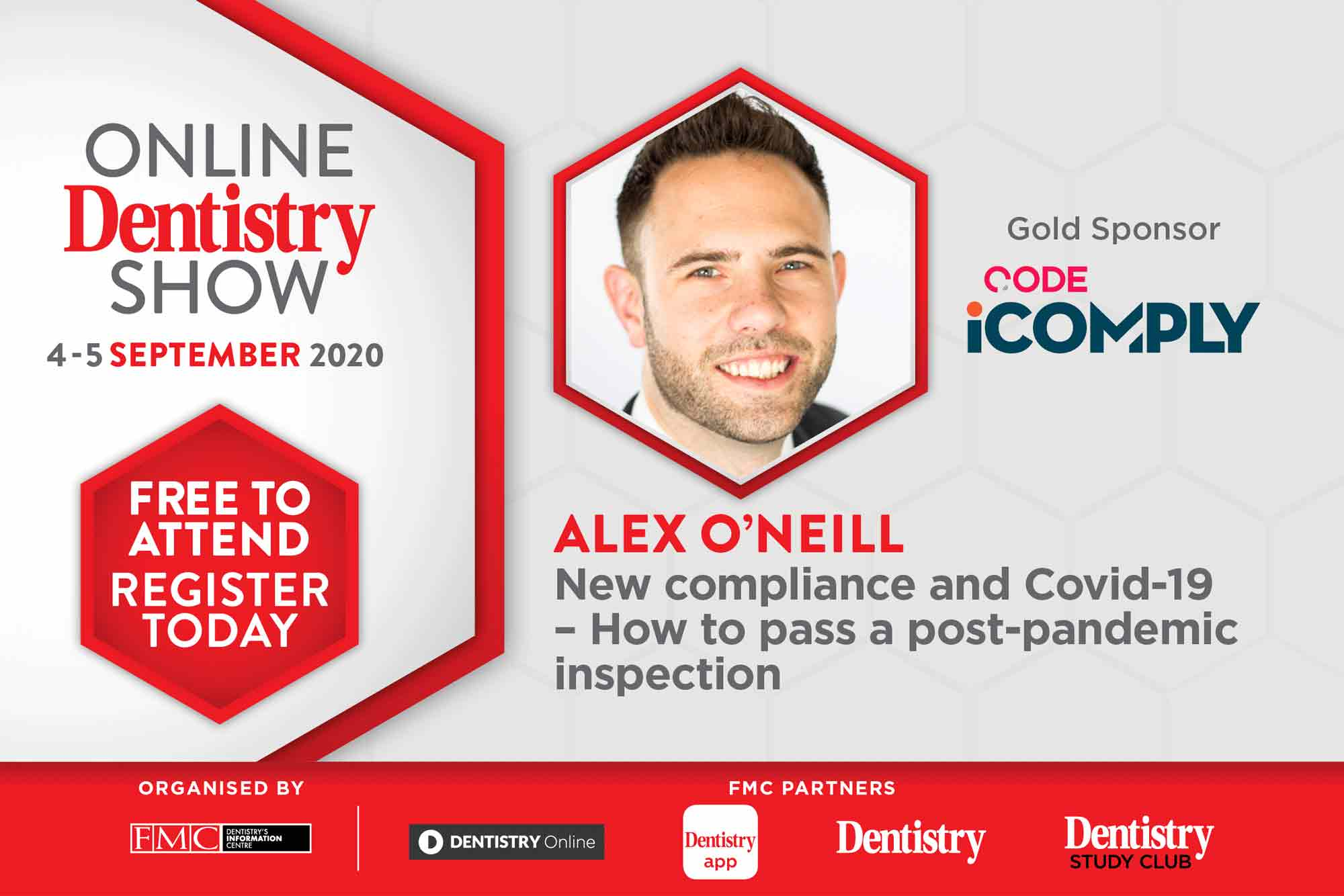 The Online Dentistry Show is putting on the very first virtual exhibition in UK dentistry with support from gold sponsors, CODE, and speaker Alex O'Neill