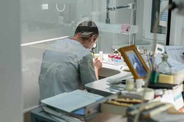 dental labs technician working