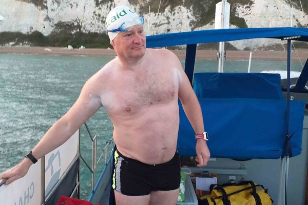 Jim Lafferty completed a solo swim across the English Channel