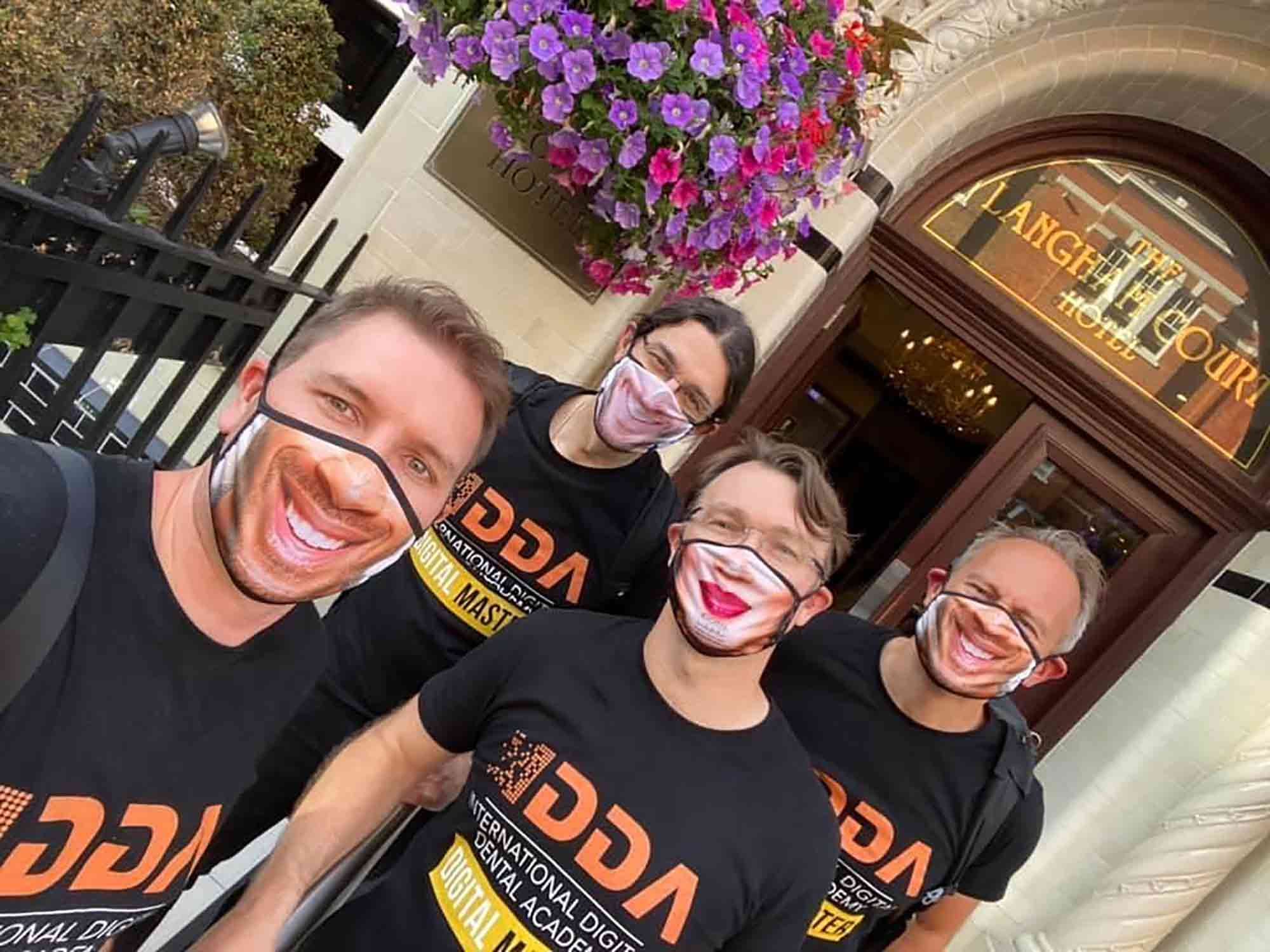 A dentist is making customised and eco-friendly PPE – including face masks and gowns – in a bid to cut plastic waste and raise money for charity