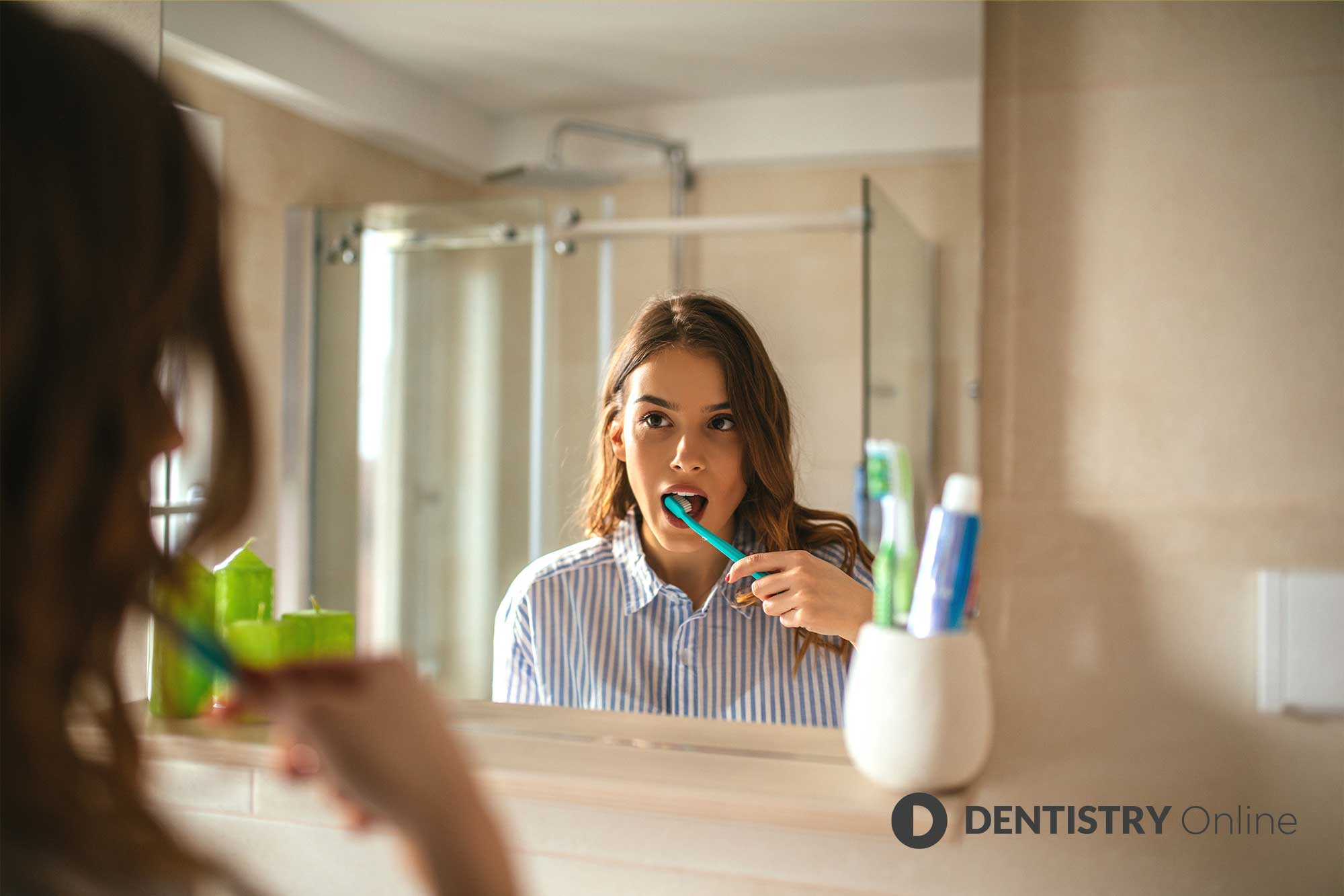 patient keeping on top of their oral health
