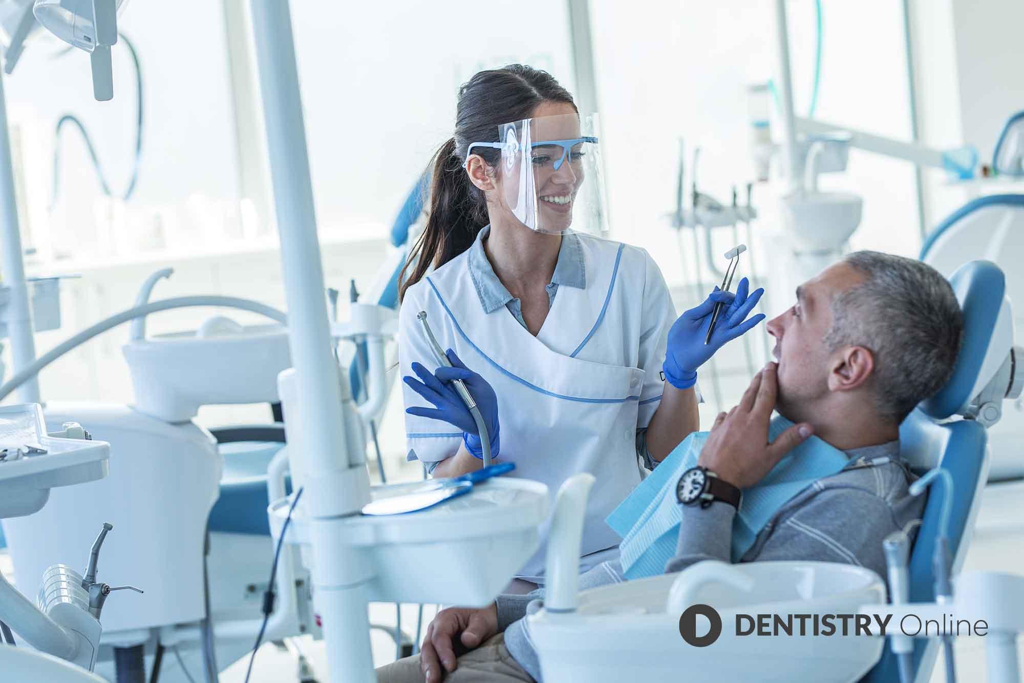 dentist offering patient finance