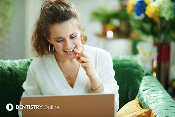 woman having a virtual consultation