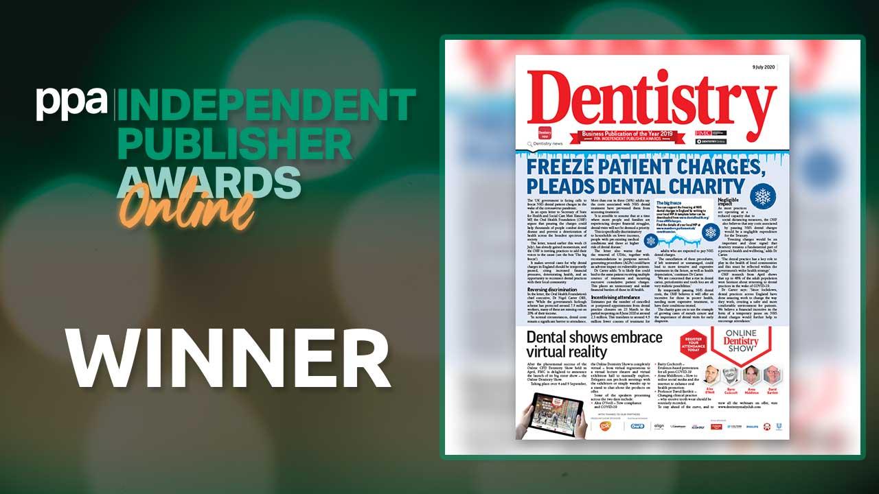 dentistry magazine award winner