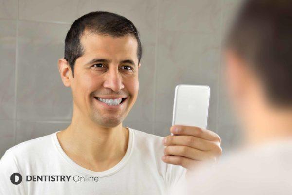 man using invisalign virtual care
