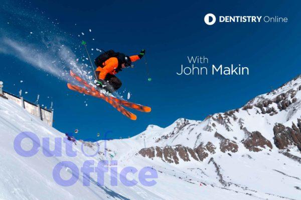 John Makin skiing