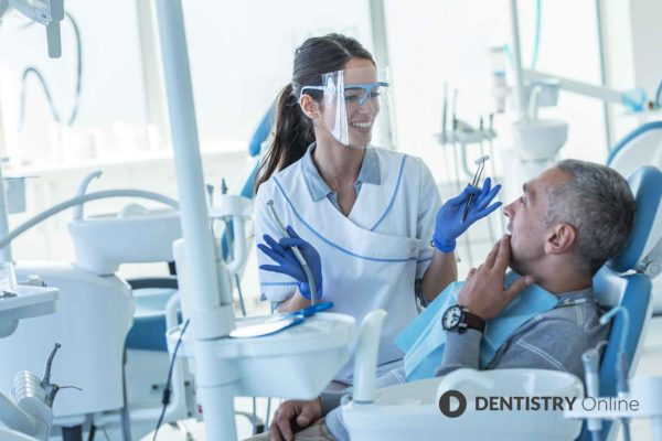 dentist discussing finance options