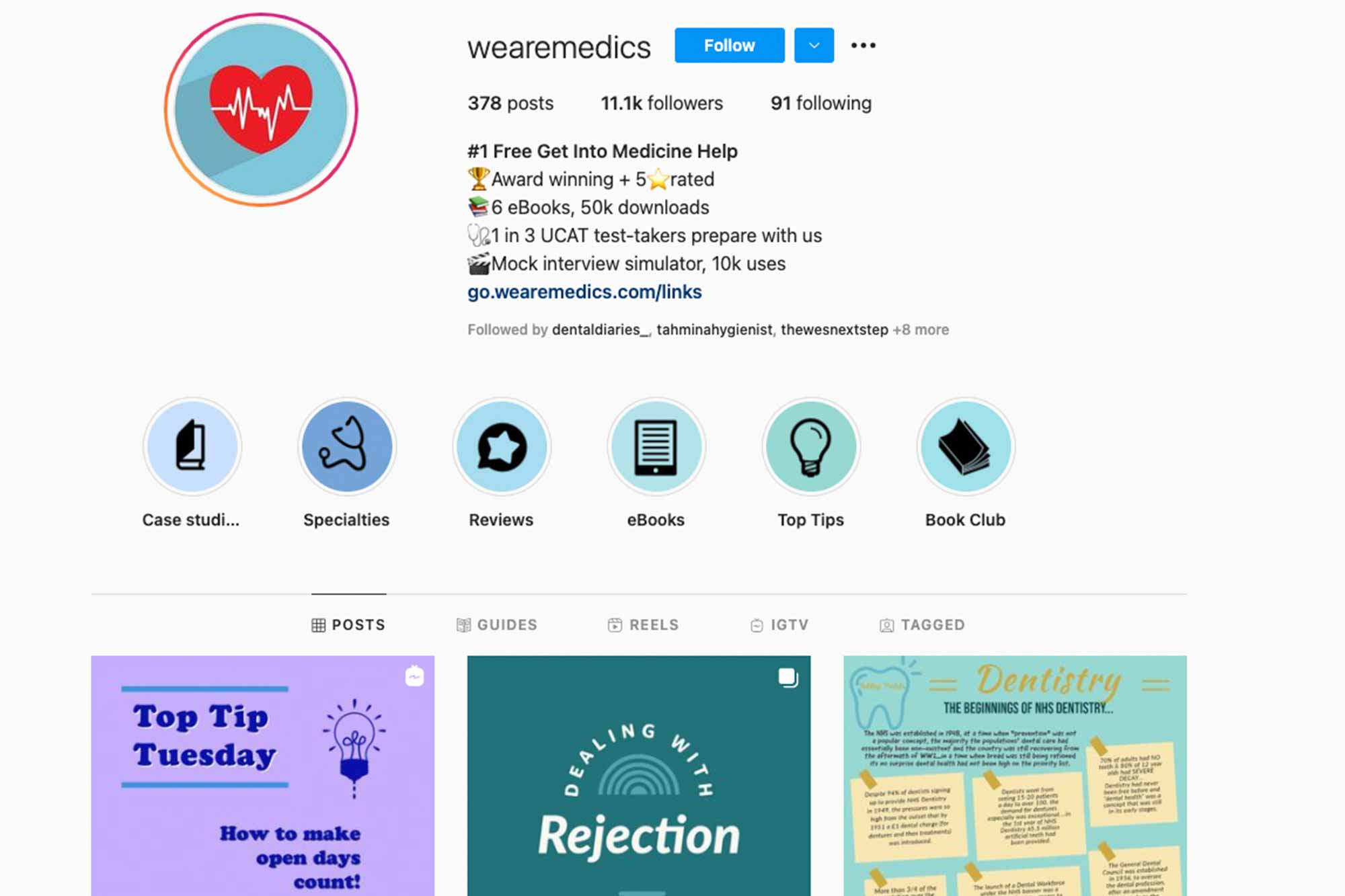 We Are Medics Instagram page