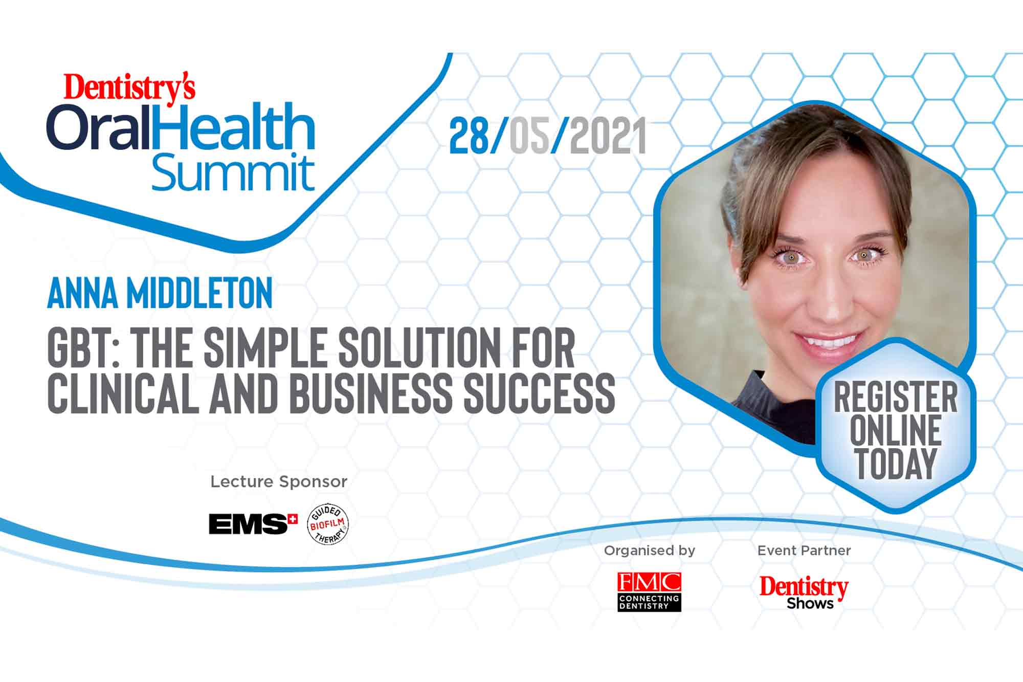 Catch a lecture on GBT with Anna Middleton at our first ever Oral Health Summit at the end of this month