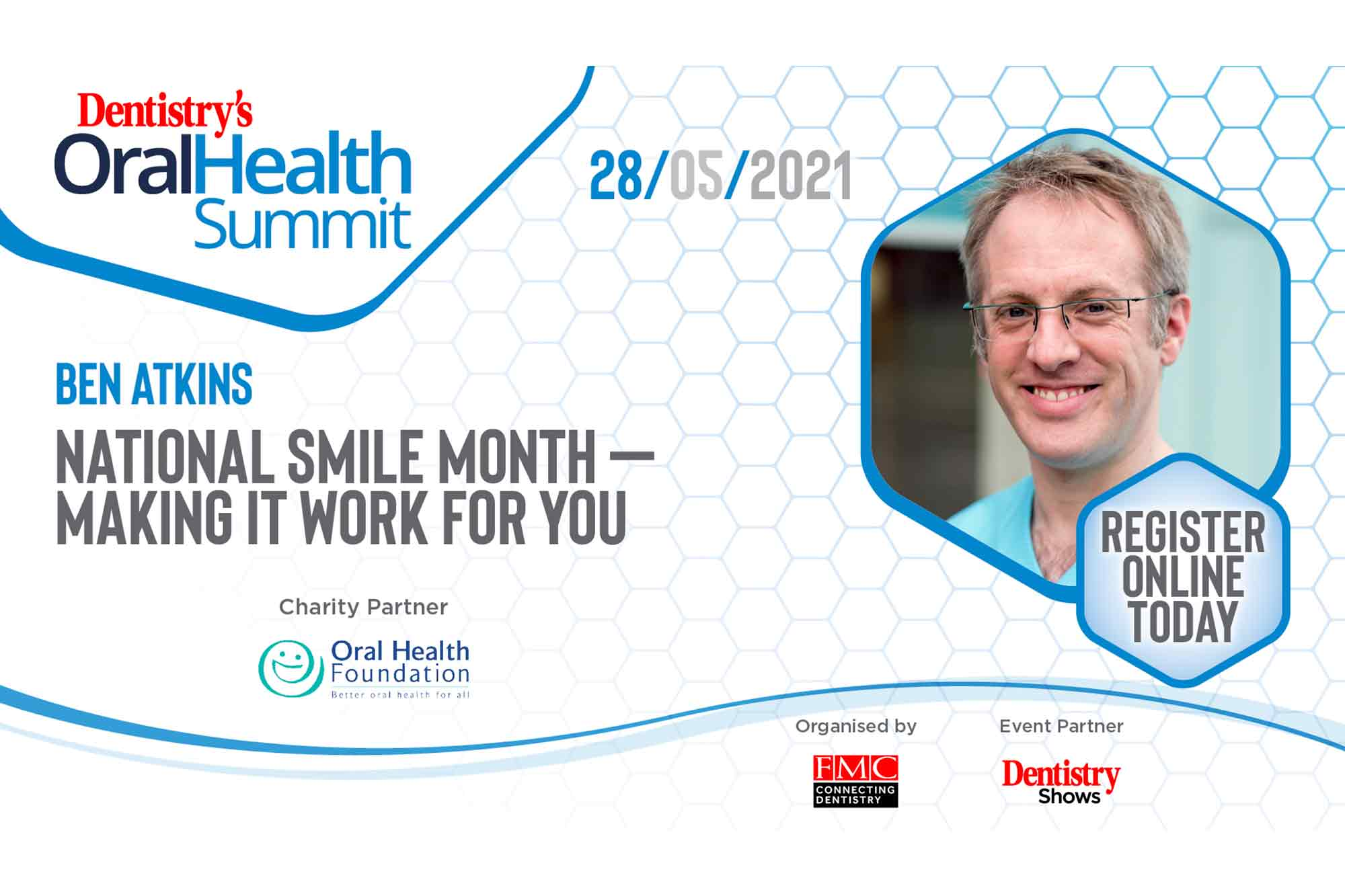 Dr Ben Atkins will discuss how to use oral hygiene to reduce stress in everyday practice at the first ever Oral Health Summit
