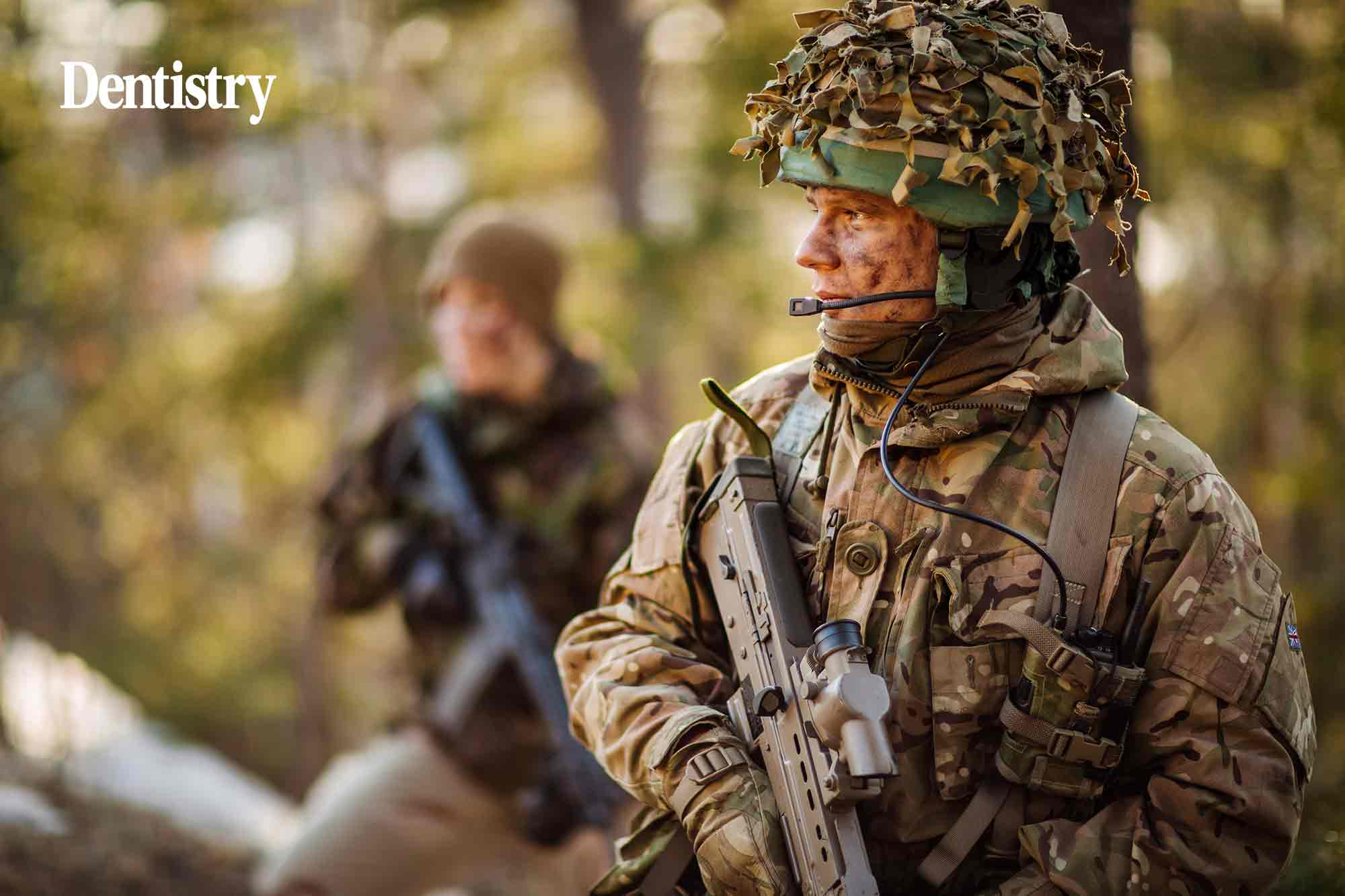 Soldiers in the British Army are enquiring about teeth whitening – prompting warnings from army dentists