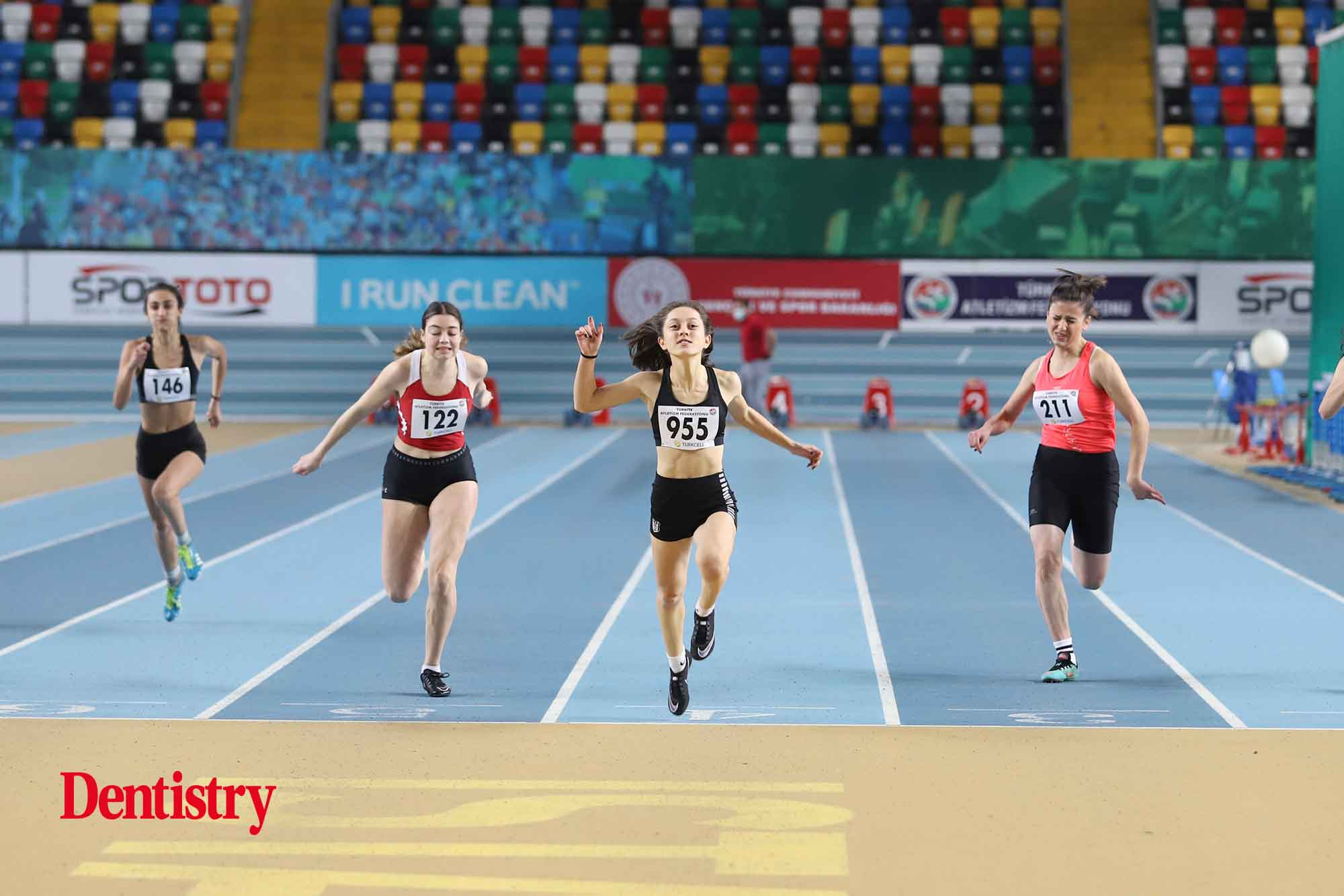 athletes competing oral health