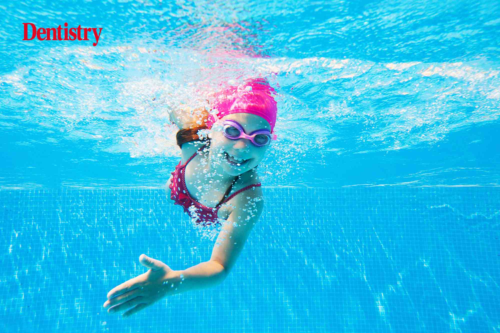 Children who swim competitively are six times more likely to have dental staining